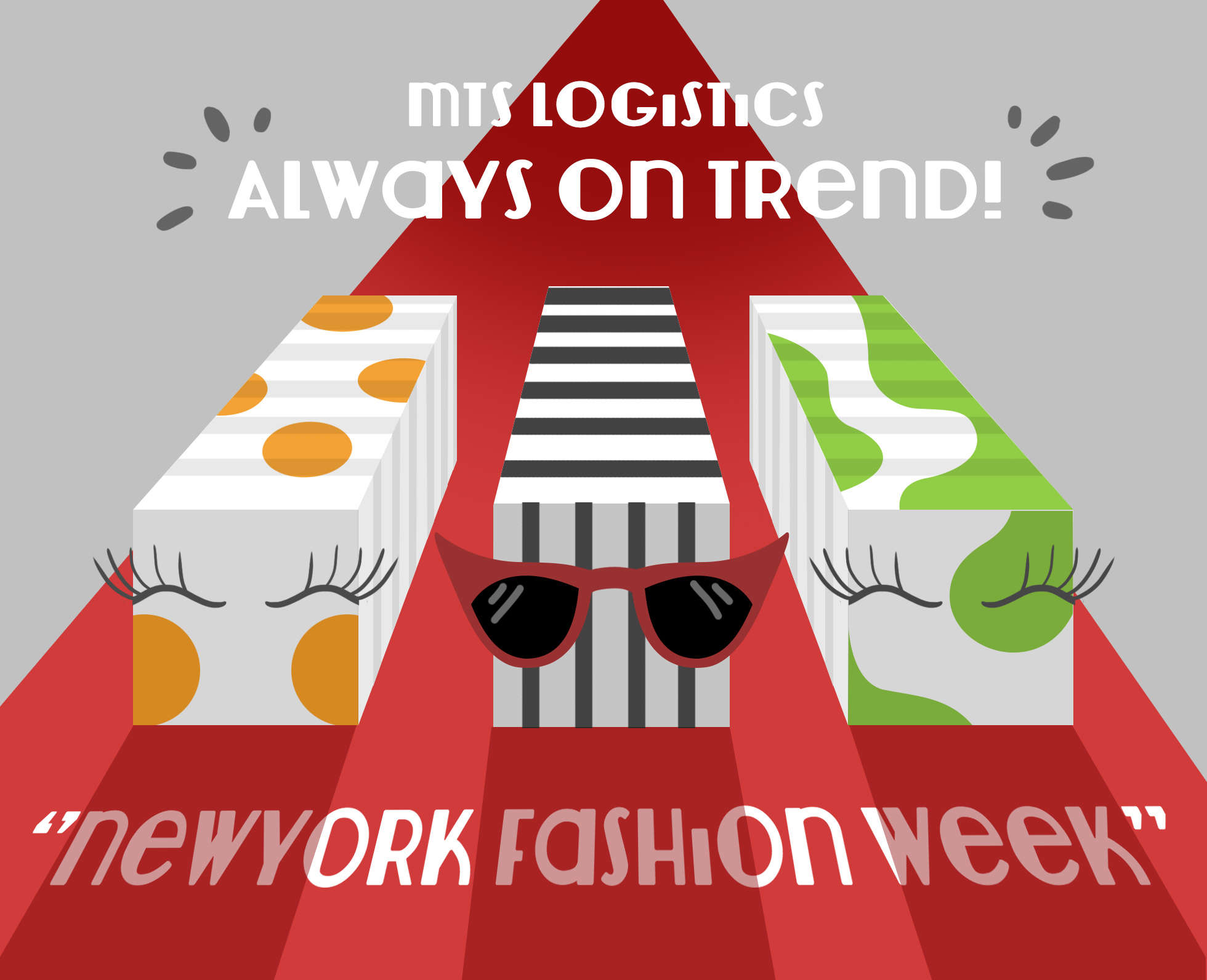 On time. On trend. MTS Logistics. #NYFW