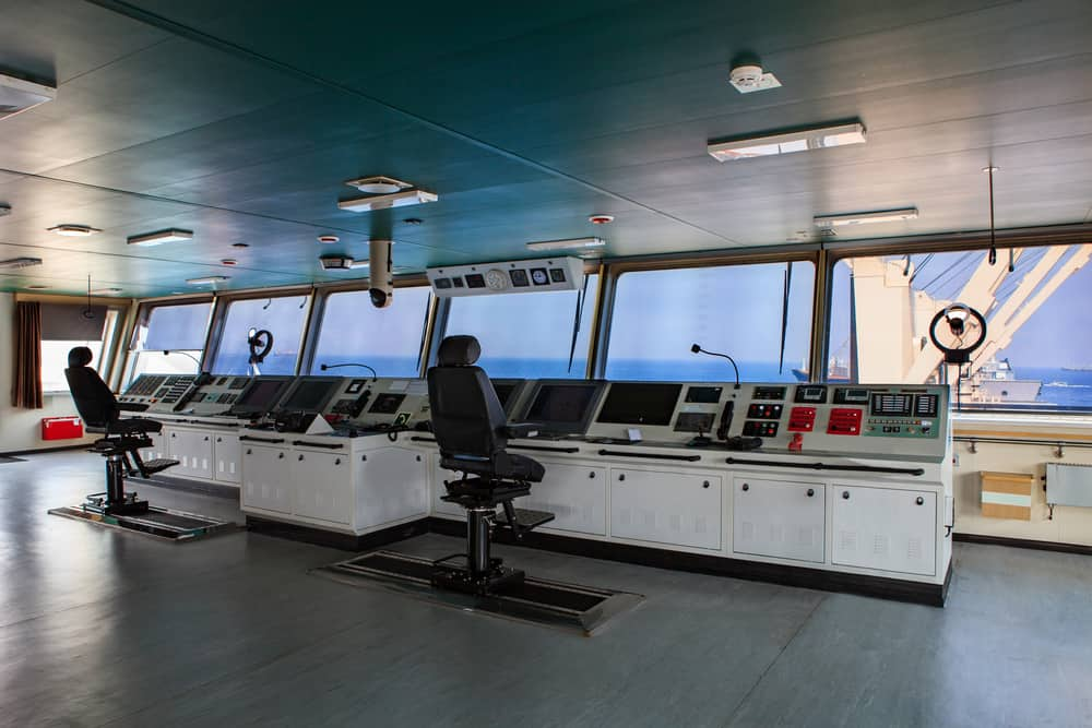The Command Center of a Cargo Ship