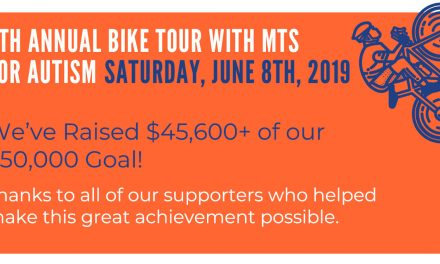 We've Raised $45,600 of our $50,000 Goal: 9th Annual Bike Tour with MTS for Autism
