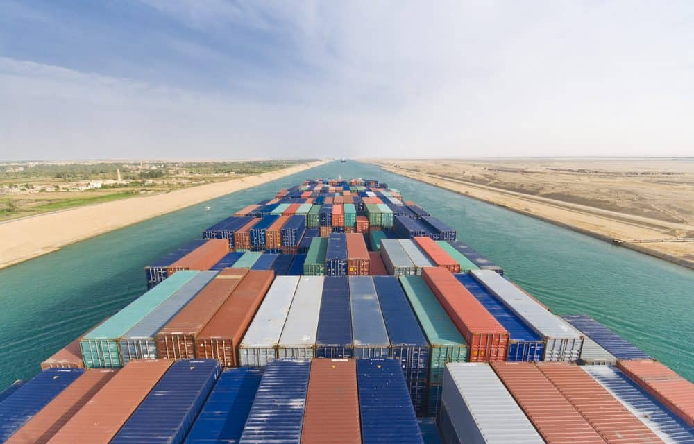 Strong Growth in Suez Canal Traffic Positions It As Number One, Competing Against the Panama Canal
